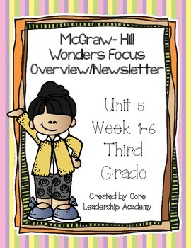 McGraw ~Hill Wonders Focus Overview/ Newsletter~ Unit 5 Week 1-6