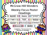 McGraw Hill Wonders Focus Wall Headers Landscape (Editable)