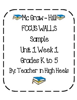Wonders Focus Wall Sampler: Grades K to 5