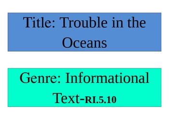 """McGraw-Hill Wonders Focus Wall  """"Trouble in the Oceans"""" quiz"""