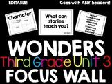 Wonders Focus Wall Third Grade Unit 3