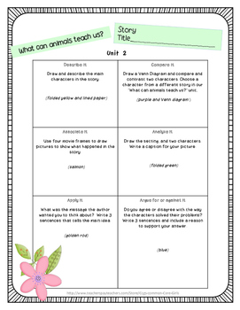 McGraw Hill Wonders: 4th Grade Units 1-6 Printable Cube It, Flip It  Activity