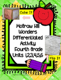McGraw Hill Wonders: 4th Grade Units 1-6 Printable Cube It
