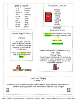 McGraw Hill Wonders Fourth Grade Mini Focus Walls Unit 2 Weeks 1-3