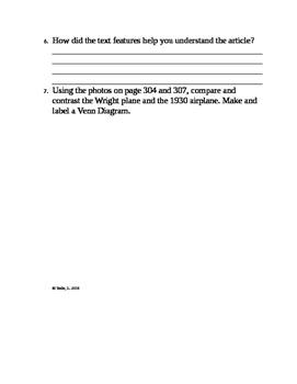 "McGraw Hill Wonders Gr. 3 4.4 ""Firsts in Flight"""