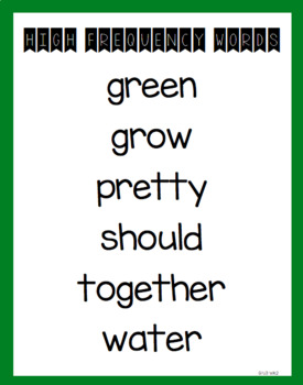 McGraw-Hill Wonders Grade 1 High Frequency Word Posters