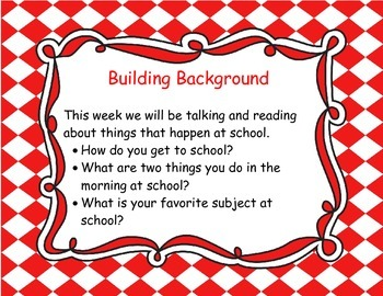 McGraw Hill Wonders Grade 1 Unit 1 Week 1 focus wall for display