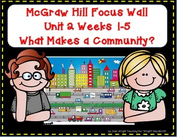McGraw Hill Wonders Grade 1 Unit 2 Weeks 1-5 focus wall fo