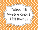 McGraw-Hill Wonders Grade 2 I Fall Down {8 Literacy Activities}