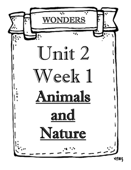 Wonders Grade 2 Objectives Unit 2 Weeks 1 to 5