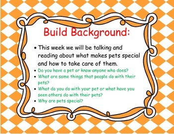 McGraw Hill Wonders Grade 1 Unit 1 Weeks 1-5 focus wall for display