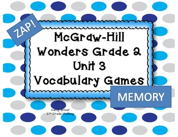 McGraw-Hill Wonders Grade 2  Unit 3 Vocabulary Games