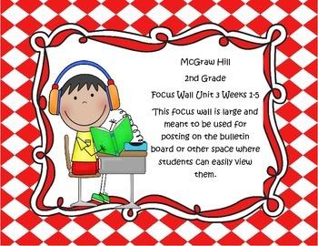 McGraw Hill Wonders Grade 2 Unit 3 Weeks 1-5  Bundle focus wall for display