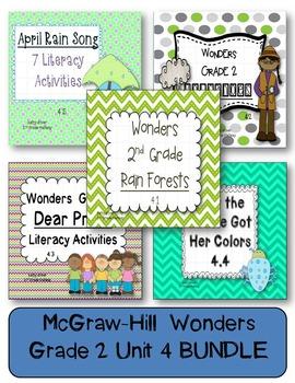 McGraw-Hill Wonders Grade 2 Unit 4 BUNDLE