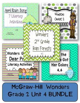 McGraw-Hill Wonders Grade 2 Unit 4 BUNDLE