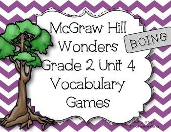 McGraw Hill Wonders Grade 2 Unit 4 Vocabulary Game