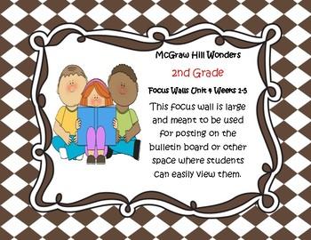 McGraw Hill Wonders Grade 2 Unit 4 Weeks 1-5  Bundle focus wall for display