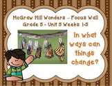 McGraw Hill Wonders Grade 5 Unit 5 Weeks 1-5 Bundle focus wall for display