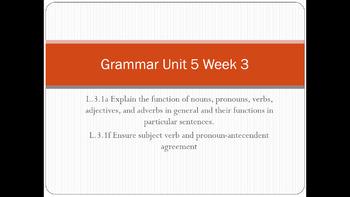 McGraw Hill Wonders Grade 3 Grammar Unit 5
