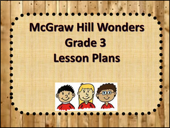 McGraw Hill Wonders Grade 3 Unit 1 Week 4 Lesson Plans
