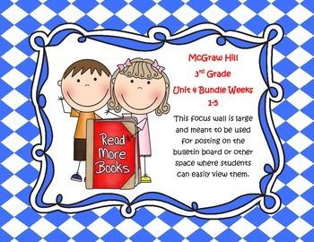 McGraw Hill Wonders Grade 3 Unit 4 Weeks 1-5  Bundle focus