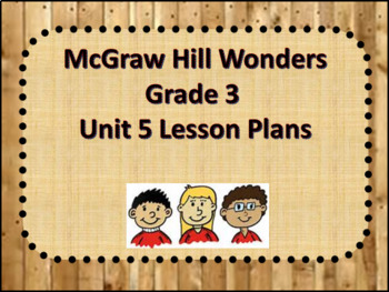 McGraw Hill Wonders Grade 3 Unit 5 Lesson plans week 1-5 Editable