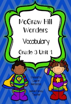 McGraw Hill Wonders Grade 3 Vocabulary Freebie