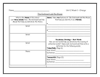 McGraw Hill Wonders Grade 4 Leveled Reader Graphic Organizers - Unit 2 Week 1
