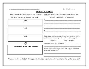 McGraw Hill Wonders Grade 4 Leveled Reader Graphic Organizers - Unit 3 Week 5