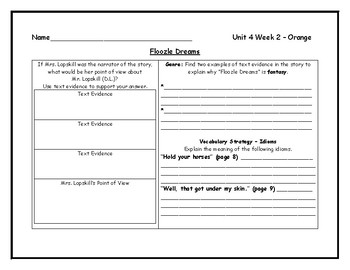 McGraw Hill Wonders Grade 4 Leveled Reader Graphic Organizers - Unit 4 Week 2