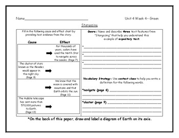 McGraw Hill Wonders Grade 4 Leveled Reader Graphic Organizers - Unit 4 Week 4