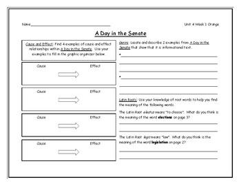 McGraw Hill - Wonders Grade 4 Leveled Reader Graphic Organizers Unit 4 Bundle