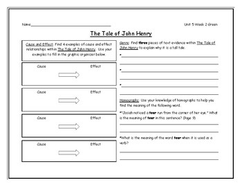 McGraw Hill Wonders Grade 4 Leveled Reader Graphic Organizers - Unit 5 Week 2