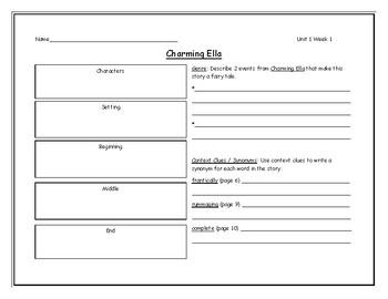 McGraw Hill - Wonders Grade 4 Leveled Reader Graphic Organizers Units 1-6 Bundle