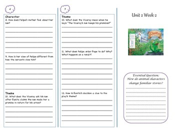 McGraw-Hill Wonders Grade 4 Unit 2 Comprehension Trifolds