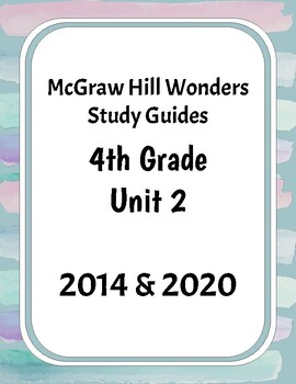 McGraw-Hill Wonders Grade 4 Unit 2 Study Guides