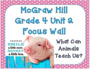 McGraw Hill Wonders Grade 4 Unit 2 Weeks 1-5 Bundle focus wall for display