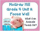 McGraw Hill Wonders Grade 4 Unit 2 Weeks 1-5 Bundle focus