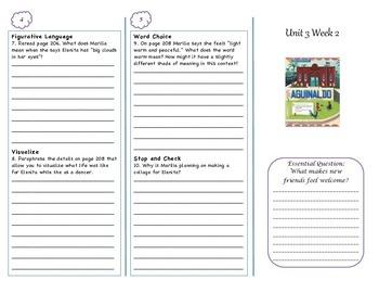 McGraw-Hill Wonders Grade 4 Unit 3 Comprehension Trifolds