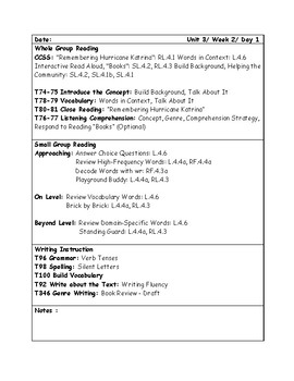 McGraw-Hill Wonders Grade 4 Unit 3 Week 2 Lesson Plans
