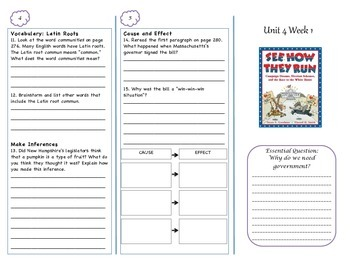 McGraw-Hill Wonders Grade 4 Unit 4 Comprehension Trifolds