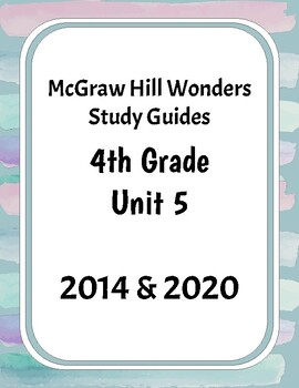 McGraw-Hill Wonders Grade 4 Unit 5 Study Guides