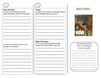 McGraw-Hill Wonders Grade 4 Unit 6 Comprehension Trifolds