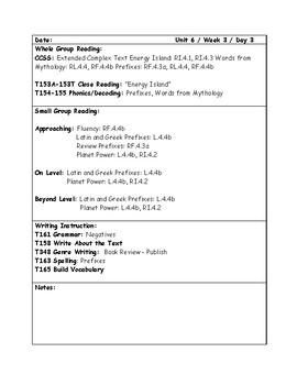 McGraw-Hill Wonders Grade 4 Unit 6 Week 3 Lesson Plans