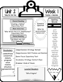 McGraw Hill Wonders Grade 5 Focus Wall At-A-Glance Unit 2