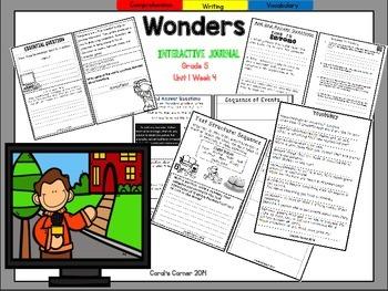 Wonders 5th Grade Interactive Journal Unit 1 Week 4