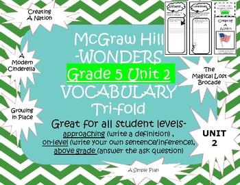 McGraw Hill Wonders Grade 5 Unit 2 Vocabulary