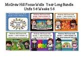 McGraw Hill Wonders Grade 1 Units 1-6  focus walls for display