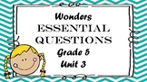 McGraw Hill Wonders Grade 5 Unit 3 Essential Questions Partner talk