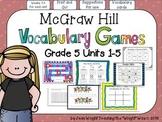 McGraw Hill Wonders Vocabulary Games Bundle Grade 5 Units 1-5 {Weeks 1-5 }